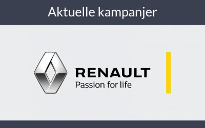 Vi tilbyr nå kampanjepriser på flere Renault modeller