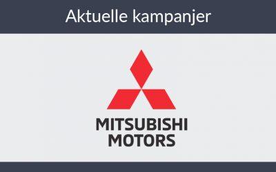 Vi tilbyr nå kampanjepriser på flere Mitsubishi modeller